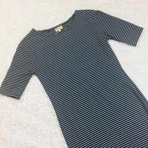 Piko 1988 Size M Striped Wiggle Dress